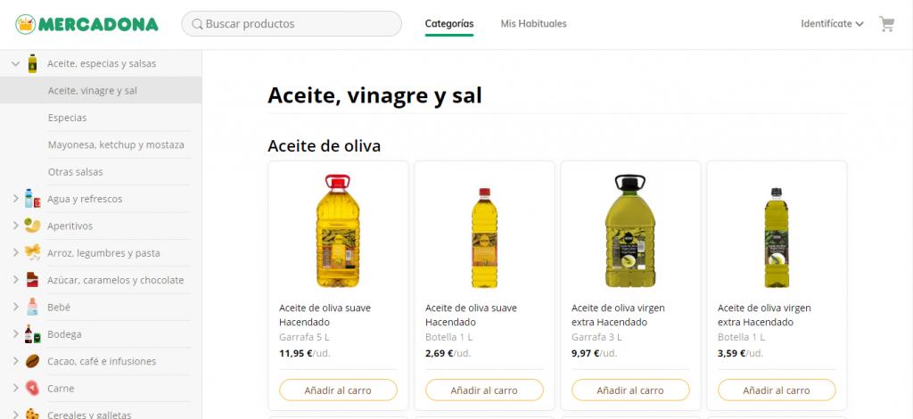 compra mercadona online